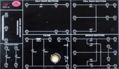 Kit thực hành mạch chỉnh lưu bán sóng, toán sóng và cầu