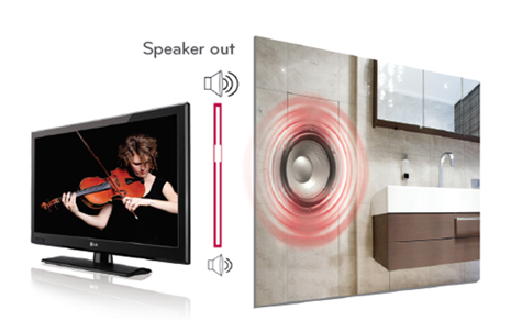 lg procentric v external speaker out